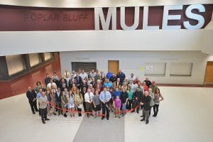 Ribbon Cutting for the Poplar Bluff High School