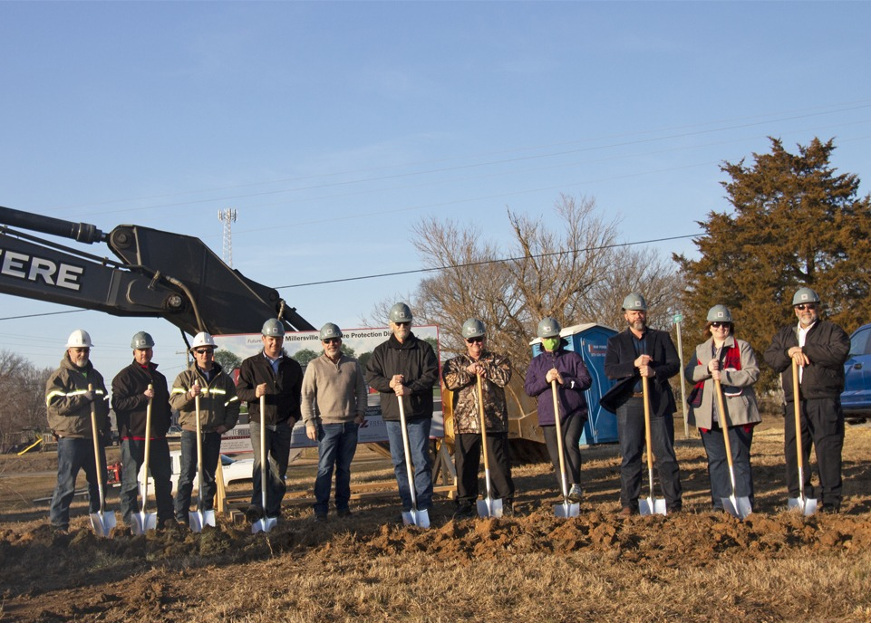 Groundbreaking for Millersville Rural Fire Protection District